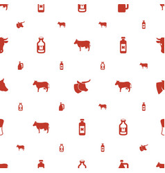 Dairy icons pattern seamless white background vector