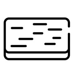 Doormat icon outline style vector