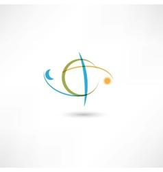 Earth symbol color vector
