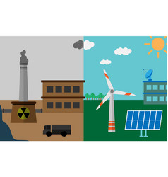 ecology and atmospheric pollution vector image