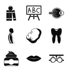 figure icons set simple style vector image