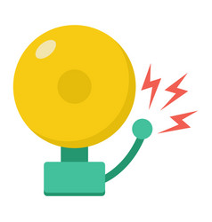 fire alarm flat icon intruder alarm and security vector image