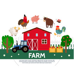 flat farming template vector image