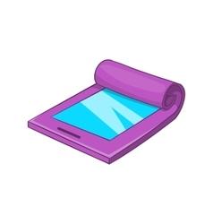 Flexible tablet icon cartoon style vector