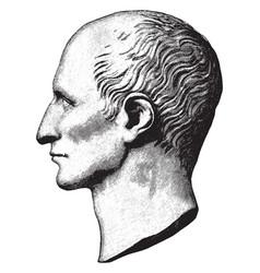 Gaius caesar vintage vector