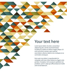 Geometrical pattern background vector image