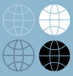 Globe the black and white color icon vector