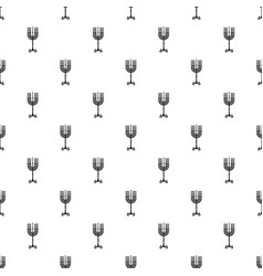 Hanukkah candle stand pattern seamless vector