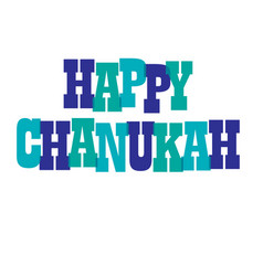 Happy chanukah typography vector