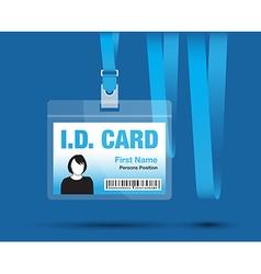 Id card woman blue vector