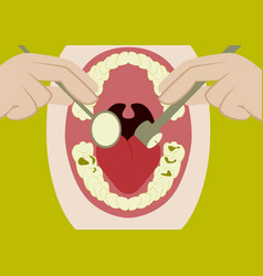 In flat design oral cavity and vector