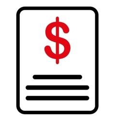 Invoice budget icon vector