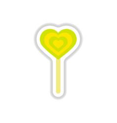 label icon on design sticker collection bonbon vector image