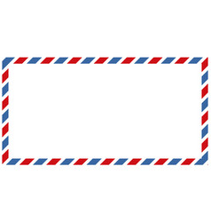 Letters and postmarks airmail designs vector
