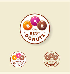 logo best donuts sweet pastry bakery vector image