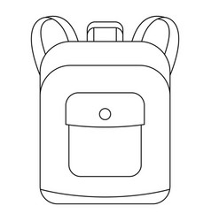 Notebook backpack icon outline style vector