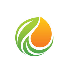 Organic bio leaf logo vector