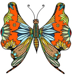Ornate zentangle butterfly vector
