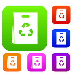 Package recycling set collection vector