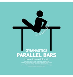 Parallel Bars Gymnastics vector