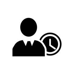 people time icon icon simple element people time vector image