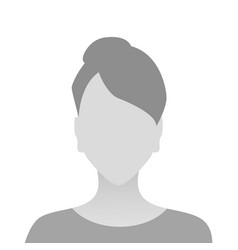 person gray photo placeholder girl material design vector image