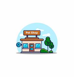 pet shop building flat vector image