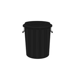plastic recycle bin icon vector image