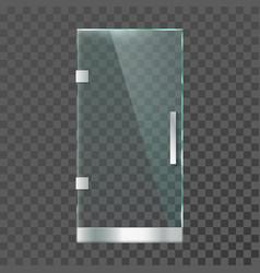Realistic glass door modern clear doors vector