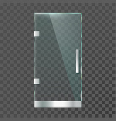 realistic glass door modern clear doors with vector image