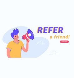 Refer a friend and audience announcement on vector