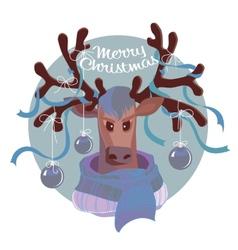 Reindeer in scarf vector image