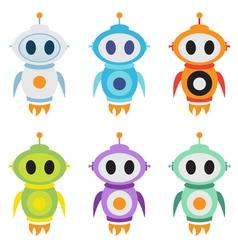 Robot rocket mascot logo Cute robot character vector image