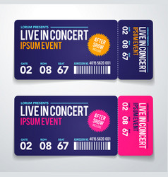 rock party festival ticket design template vector image