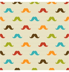 seamless pattern of mustache on background vector image