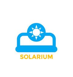 Solarium icon on white vector