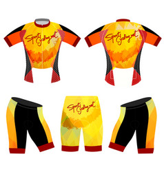 Sports cycling vest t-shirt vector