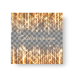 Square background with festive lights vector