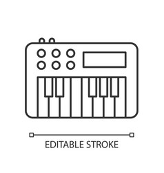 Synthesizer pixel perfect linear icon vector