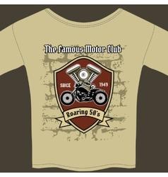 T-shirt design for a Motorcycle workshop vector image