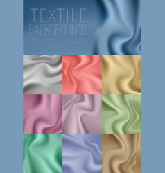 textile drapery colorful collection in blue vector image