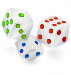 Three dices for dribbling vector