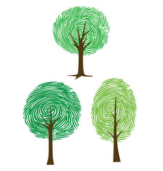 Thumbprint trees vector