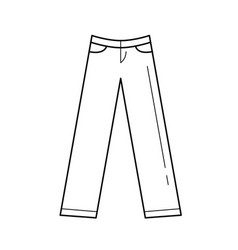 trousers line icon vector image