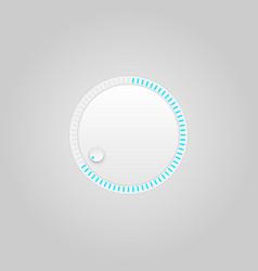 user interface control grey web element circle vector image