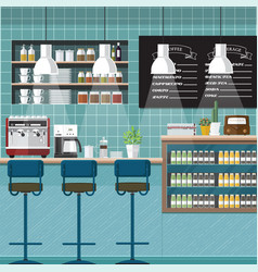Vintage coffee bar vector