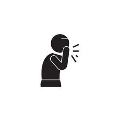 wet cough black concept icon wet cough vector image