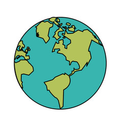white background with planet earth vector image