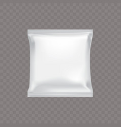 White square plastic packing for food vector