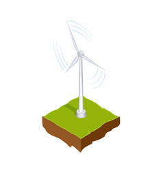wind generator or mill renewable energy source vector image